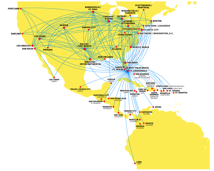 Southwest Airlines adds a new competitive dimension on routes to – Southwest Airlines Travel Map